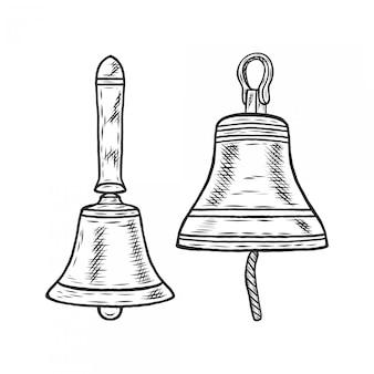 Handdrawing weinlese-illustrations-moka-topf-satz