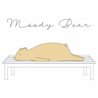 Handdrawn nette tiere-lustiger bärn-karikatur