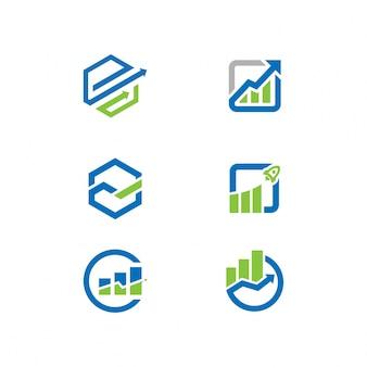 Handelsfirmen-logos gesetzt