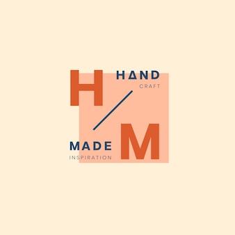 Handgefertigte logos abzeichen design