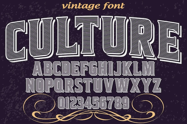 Handgefertigte schriftdesignkultur