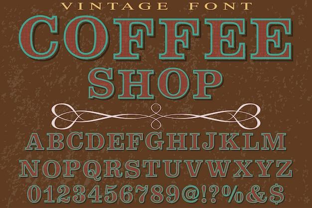 Handgefertigter typografie-schriftartkaffee der schriftart
