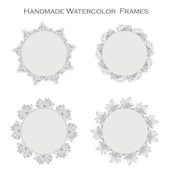 Handgemachte aquarellrahmen