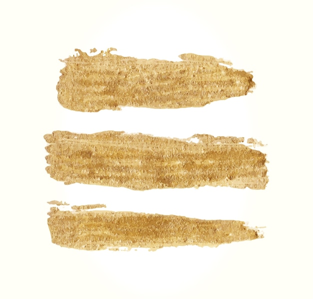 Handgemachte goldene bürste set strich