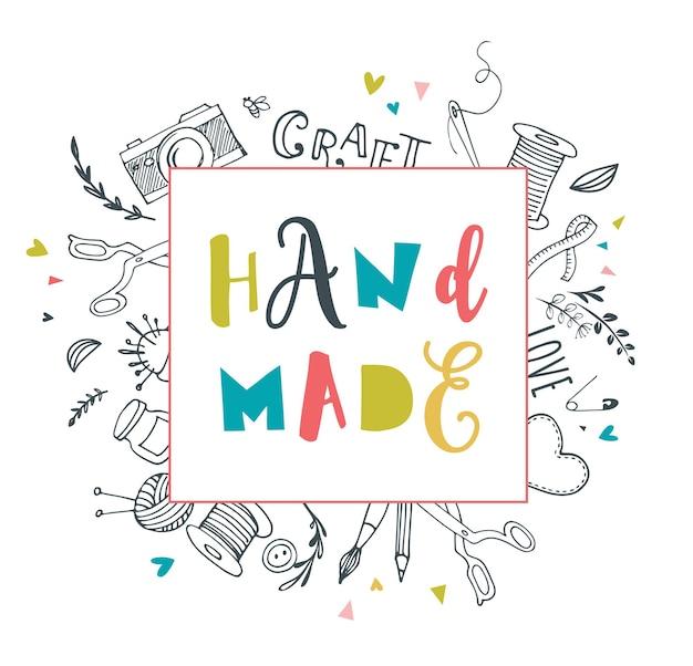 Handgemachte handwerkswerkstatt kunst
