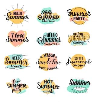 Handgemachte sommer-designs