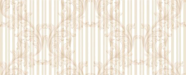 Handgemachte verzierung der goldenen mustervektorillustration des damastes