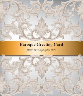 Handgemachter dekorationsdekor der damasteinladung. barocke funkelnde hintergrundtexturen