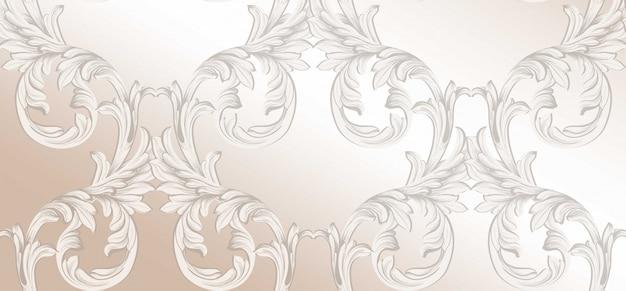 Handgemachter dekorationsdekor des damastmusters. barocke hintergrundtexturen