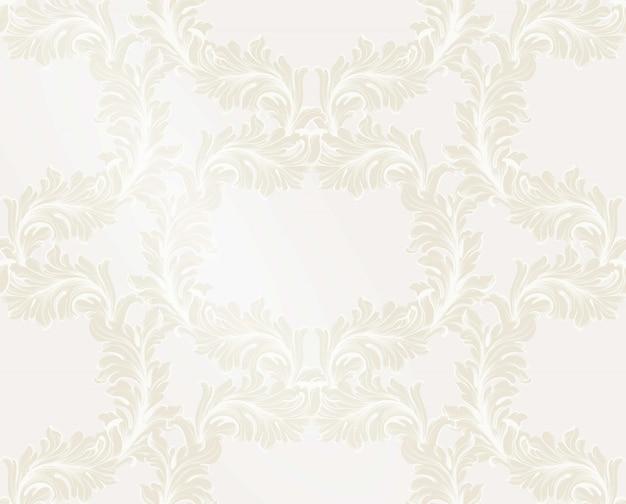Handgemachter verzierungsdekor des goldenen musters der damast-vektorillustration