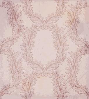 Handgemachter verzierungsdekor des luxusvektors. barocke dekor hintergrund texturen