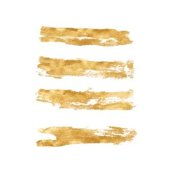 Handgemachtes goldenes pinselstrichset