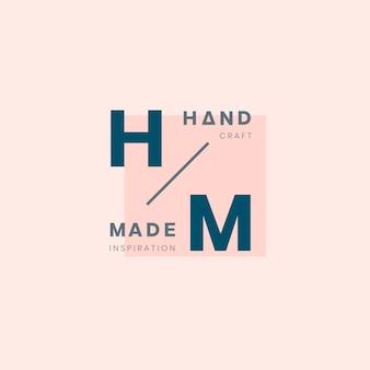 Handgemachtes logo-ausweisdesign