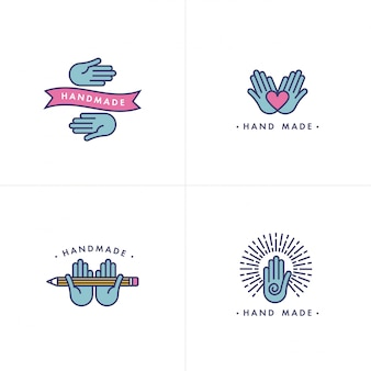 Handgemachtes logo-set