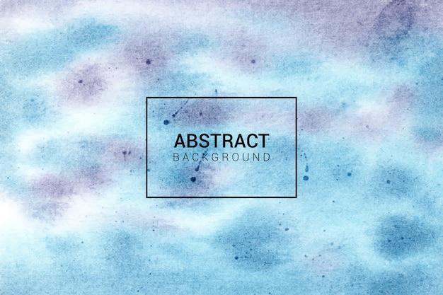 Handgemalte abstrakte blaue und lila hintergrundbeschaffenheit des aquarells