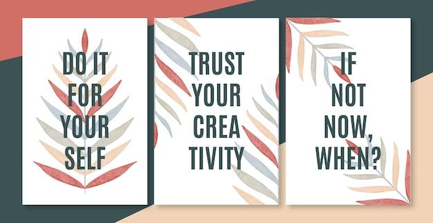 Handgemalte abstrakte deckblätter design