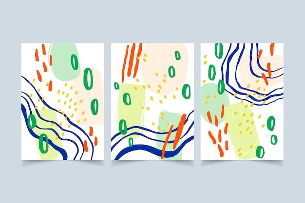 Handgemalte abstrakte kunst deckt sammlung