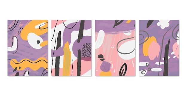 Handgemalte abstrakte kunstabdeckungssammlung