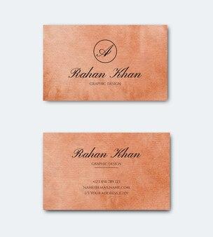 Handgemalte aquarell doppelseitige visitenkarte