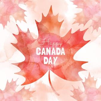 Handgemalte aquarell-kanada-tagesillustration