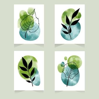 Handgemalte aquarell minimale handgezeichnete cover-sammlung