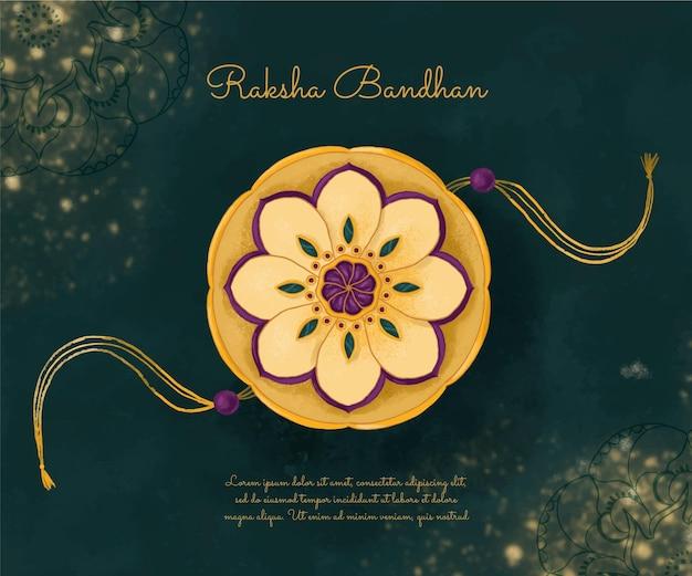 Handgemalte aquarell raksha bandhan illustration