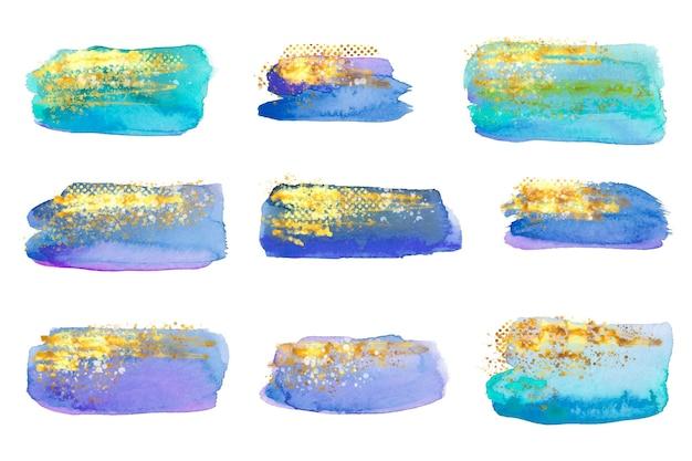 Handgemalte aquarellflecken