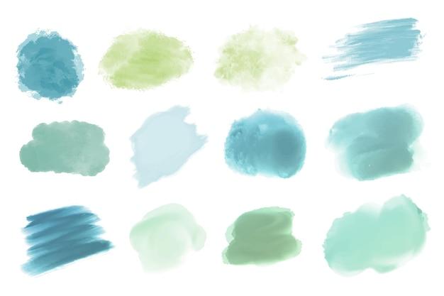 Handgemalte aquarellfleckensammlung