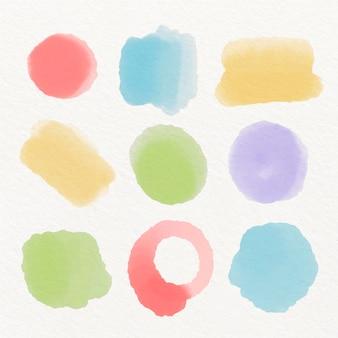Handgemalte aquarellpinsel-strichsammlung