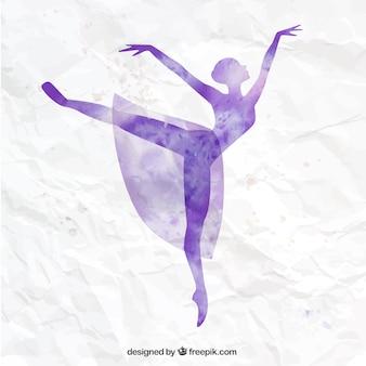 Handgemalte ballerina
