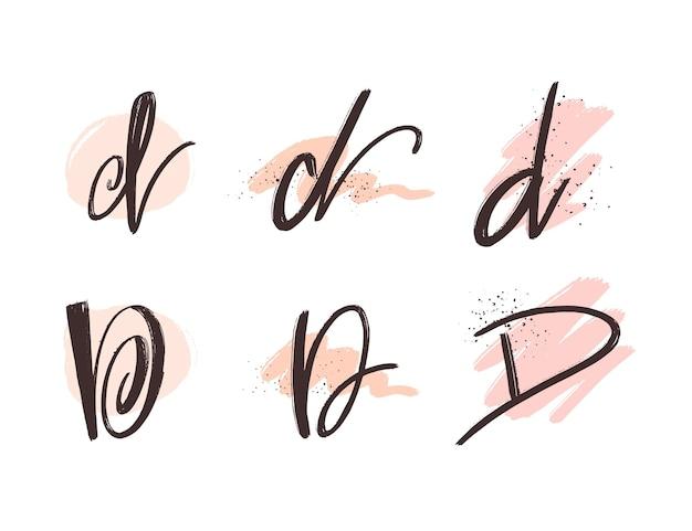 Handgemalte d logo sammlung