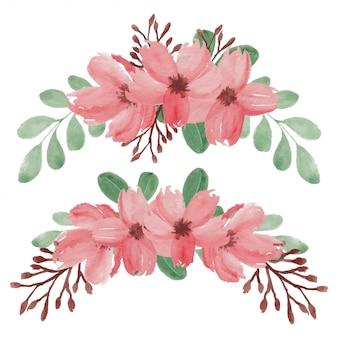 Handgemalte frühlingskirschblütenblumenanordnung