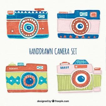 Handgemalte retro-kameras