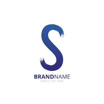 Handgemalte s logo vorlage
