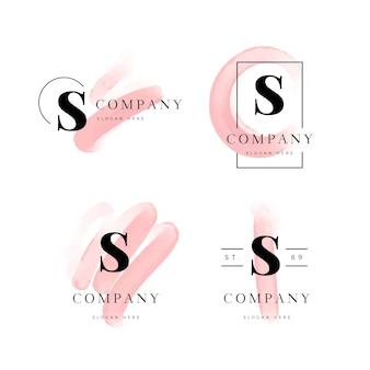 Handgemalte s logo vorlage Kostenlosen Vektoren