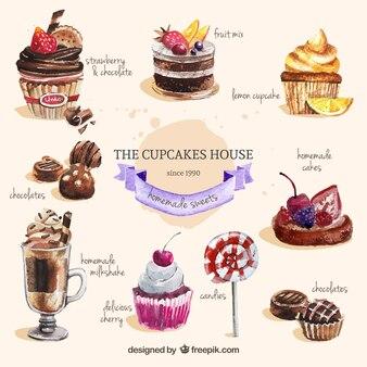 Handgemalte süßigkeiten