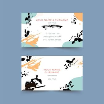 Handgemalte visitenkarte der schwarzen tinte
