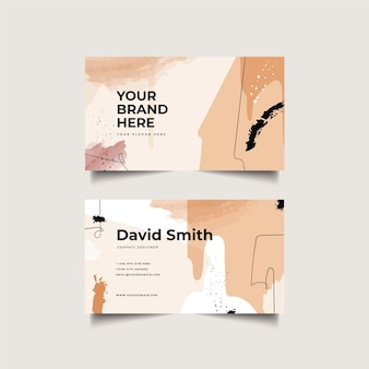 Handgemalte visitenkarten