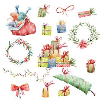 Handgemalte weihnachten clipart