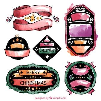 Handgemalte weihnachtsabzeichen