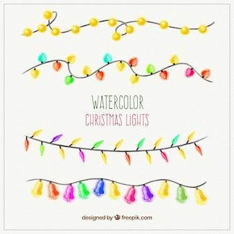 Handgemalte weihnachtsbeleuchtung