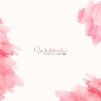 Handgemalter aquarell rosa fleck als hintergrundrahmen
