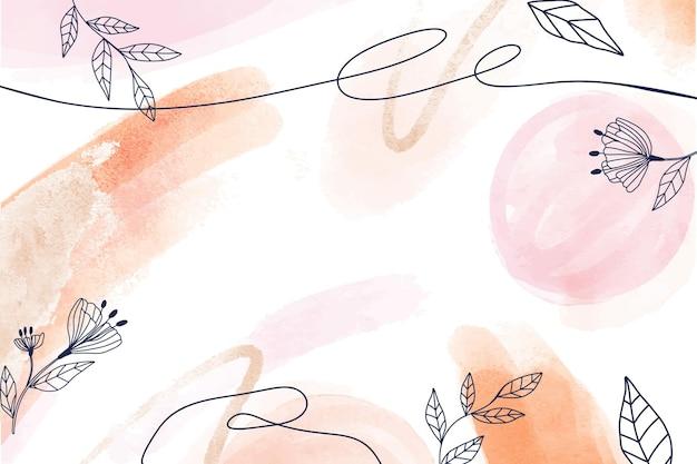 Handgemalter aquarellblumenhintergrund Kostenlosen Vektoren