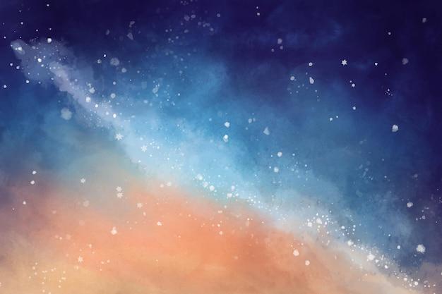 Handgemalter aquarellgalaxienhintergrund