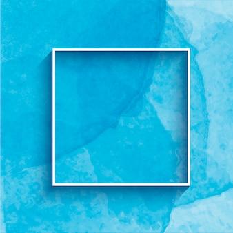 Handgemalter aquarellhintergrund mit rahmen