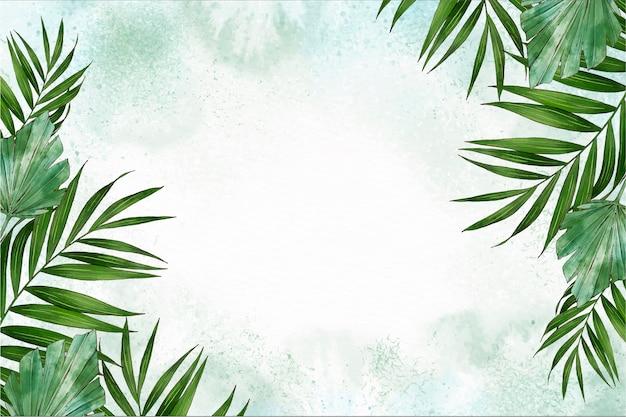 Handgemalter aquarellnaturhintergrund mit leerem raum