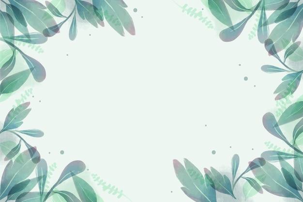 Handgemalter aquarellnaturhintergrund
