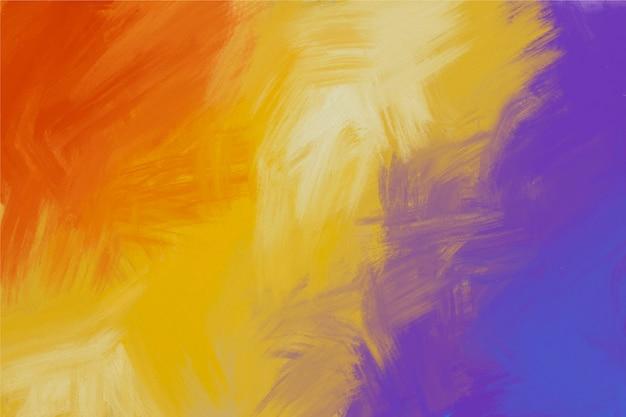Handgemalter hintergrund der veilchen- und feuerfarben