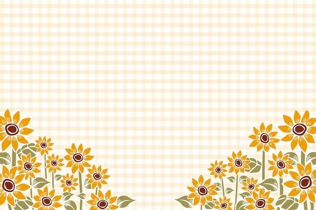 Handgemalter sonnenblumenhintergrund