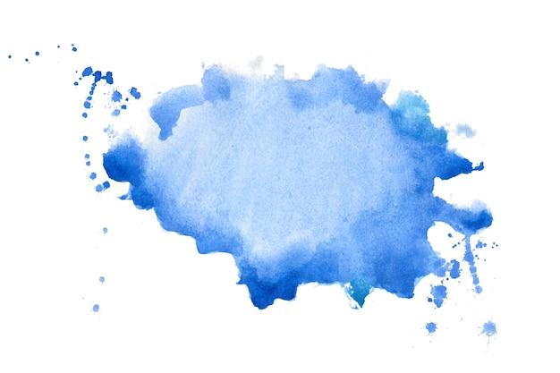Handgemalter texturhintergrund des abstrakten blauen aquarells